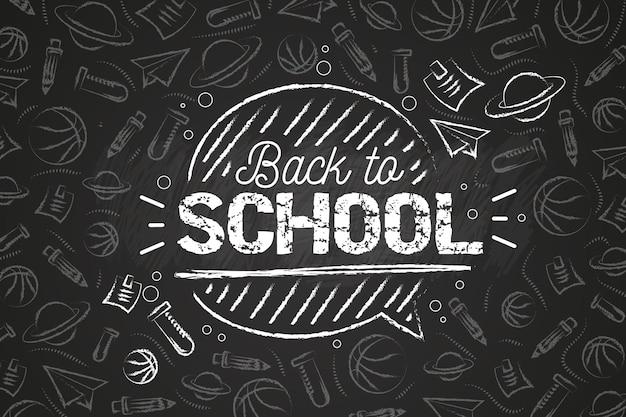 Blackboard back to school wallpaper theme Free Vector