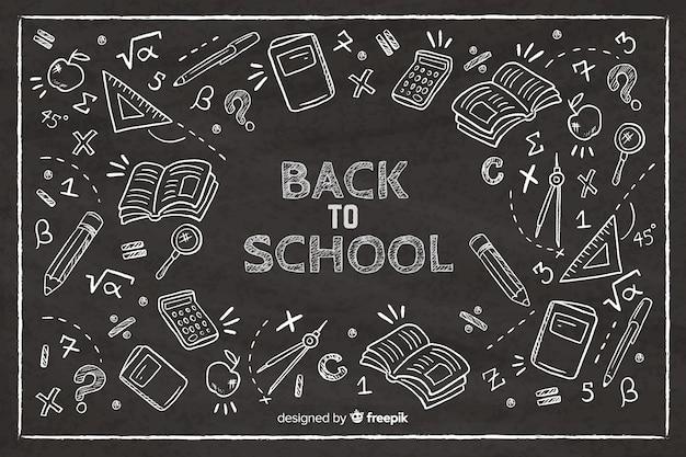 学校の背景に戻る黒板 Premiumベクター