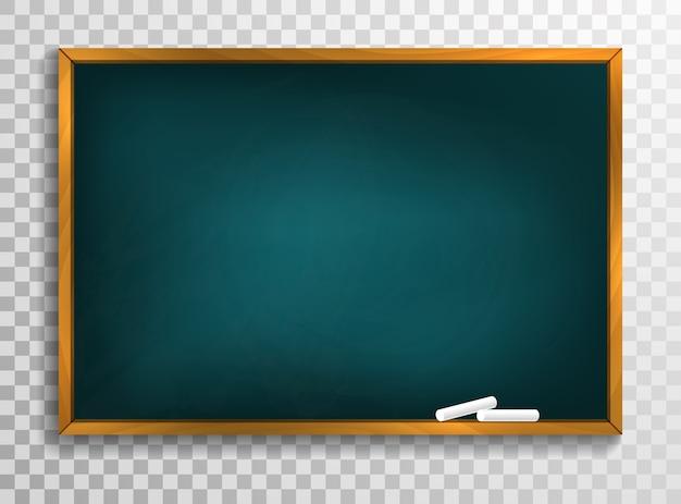 黒板の背景と木製のフレーム、汚れた黒板をこすり落とした Premiumベクター