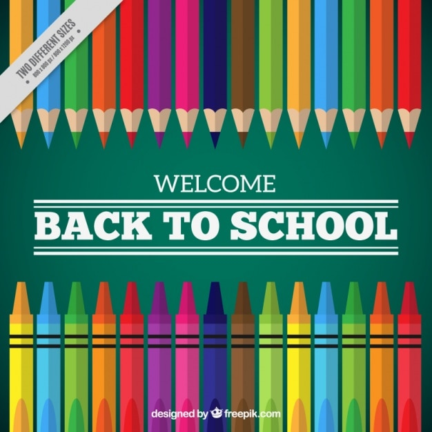 blackboard background with crayons vector free download