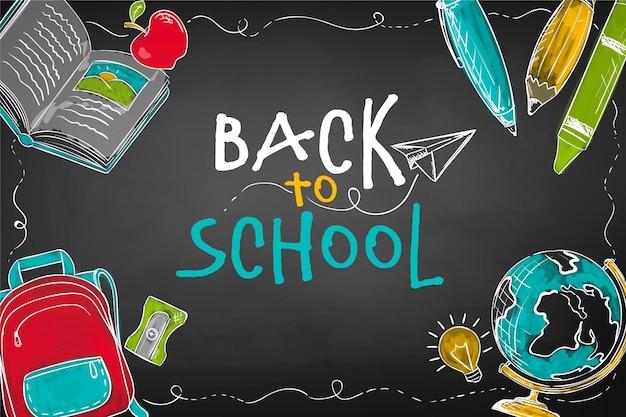 Blackboard children back to school concept Free Vector