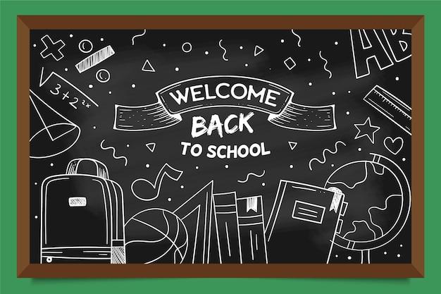 Blackboard design back to school background Free Vector