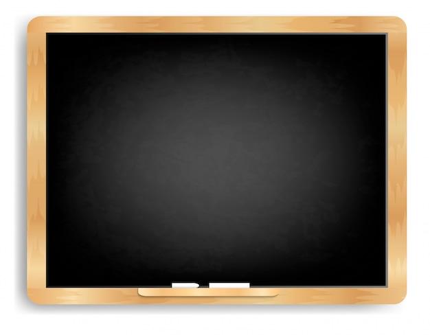 Blackboard horizontal with chalk Premium Vector