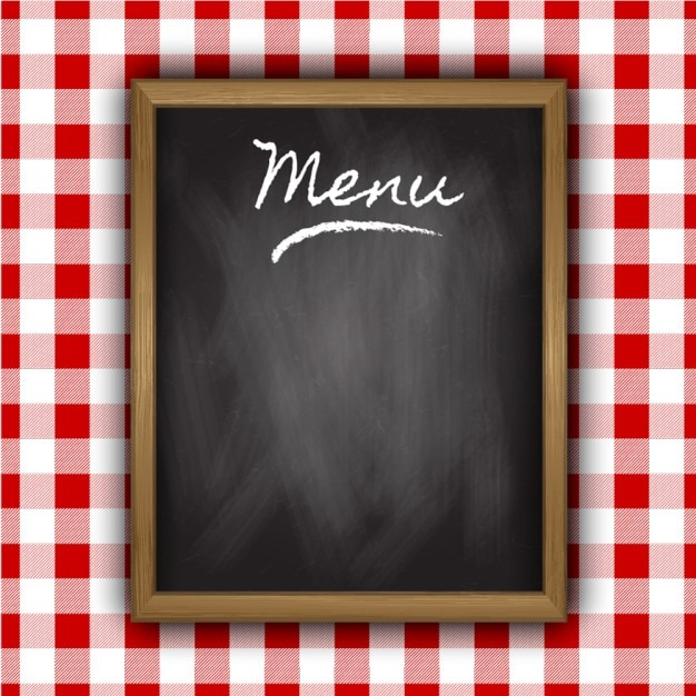Blackboard of menu Free Vector