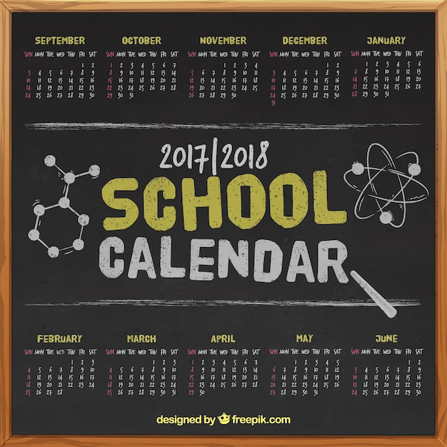 Blackboard school calendar