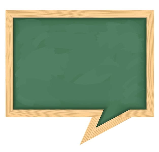 Blackboard shaped as speech bubble Premium Vector