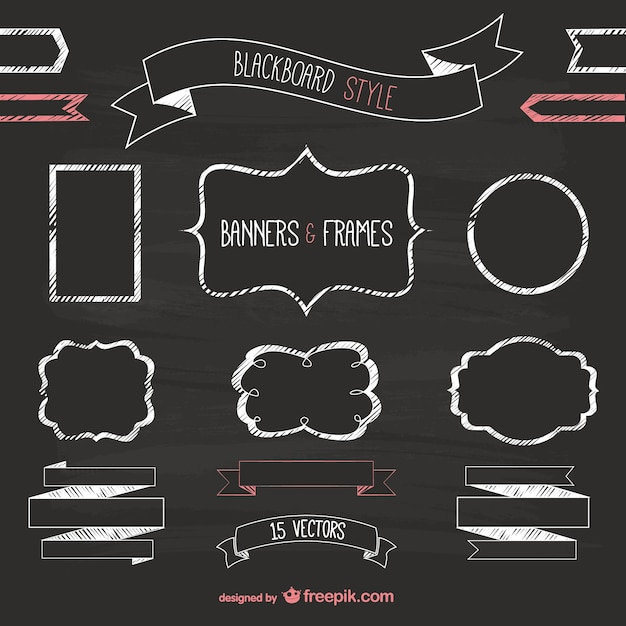 Blackboard Style Banners And Frames