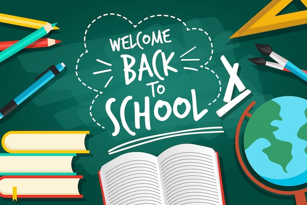 Blackboard with back to school concept Free Vector