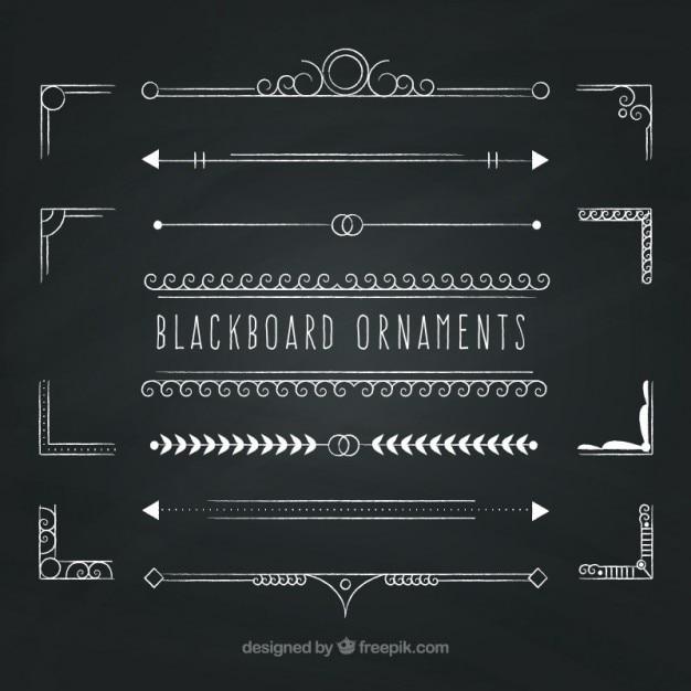 Blackboard украшения Бесплатные векторы