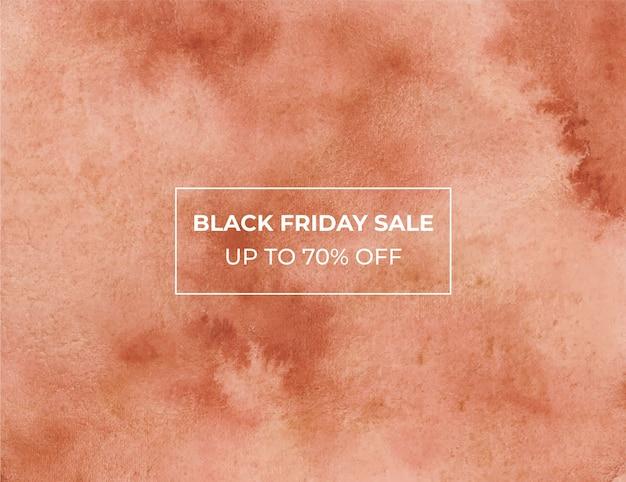 Blackfriday sale watercolor background Premium Vector