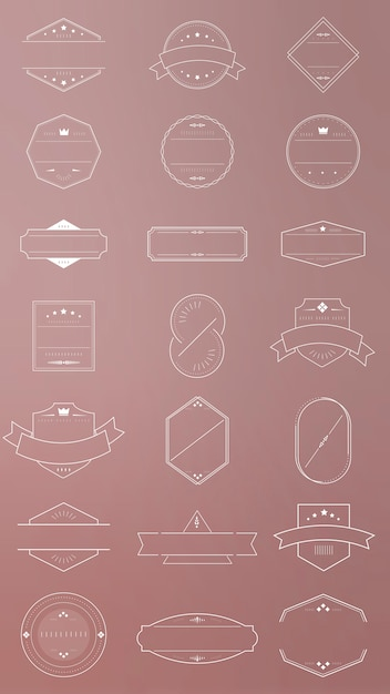 Blank badge set Free Vector