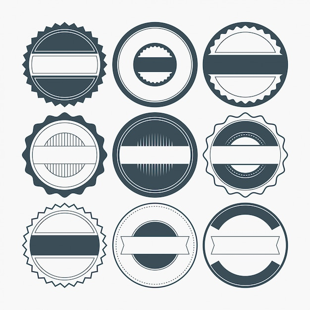 Blank badge shapes Vector | Premium Download