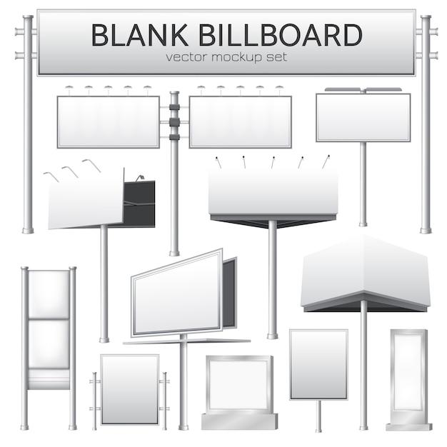 Blank billboard mockup for advertisement Free Vector