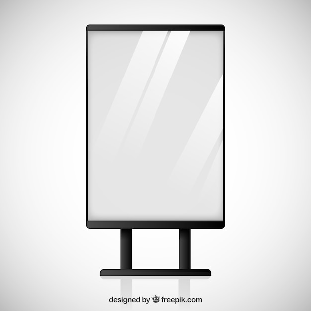 Blank billboard Vector | Premium Download