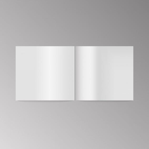 Blank book cover vector. Premium Vector