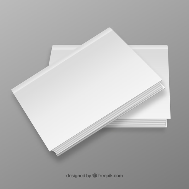 premium vector | blank book covers  freepik