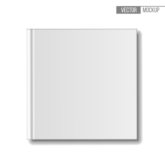 Blank book , top view. template square books on white background for your  and presentation.  illustration. Premium Vector