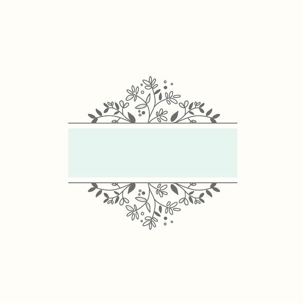 Blank botanical frame design element vector Free Vector
