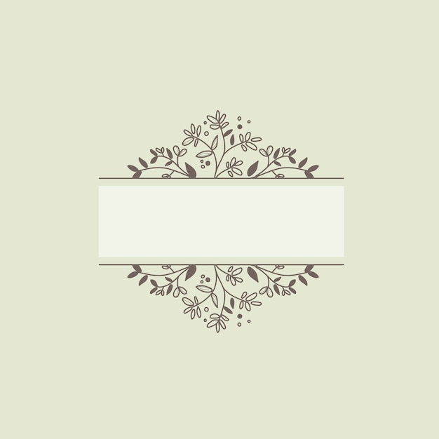 Blank botanical frame design element vector Free Vector