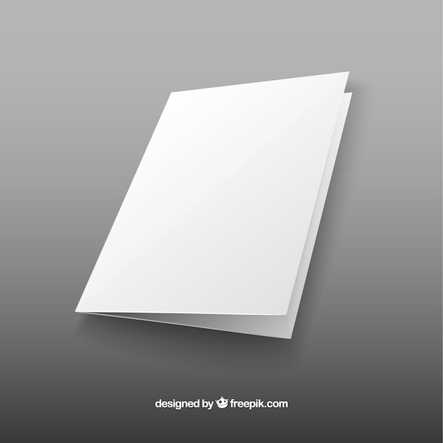 plain brochure template - blank brochure vector free download