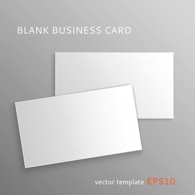 Blank Business Card Template Vector