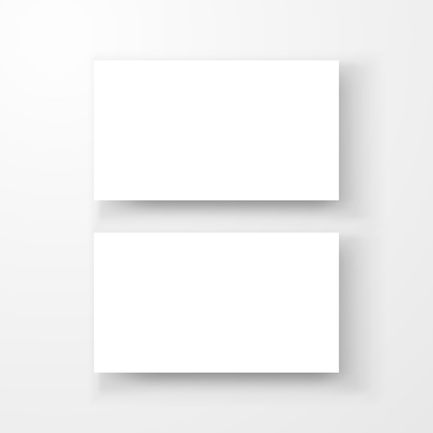 Blank Business Card With Shadow Template Top View Vector Premium