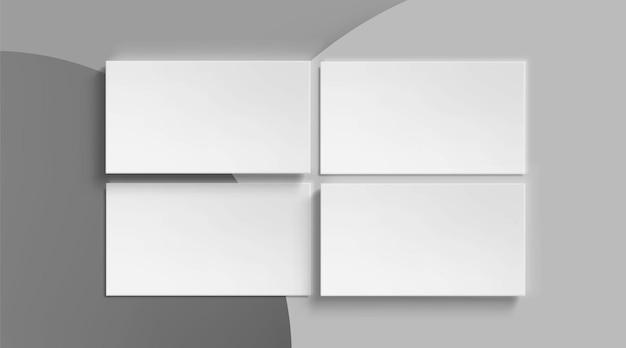 Modello di biglietti da visita in bianco su grigio Vettore gratuito