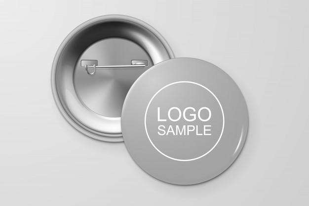 Blank button badge. Premium Vector