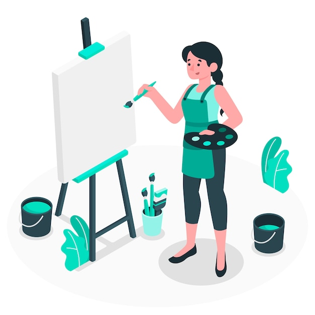 Blank canvas concept illustration Free Vector