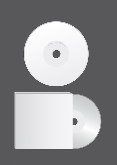 Blank cd over gray Premium Vector