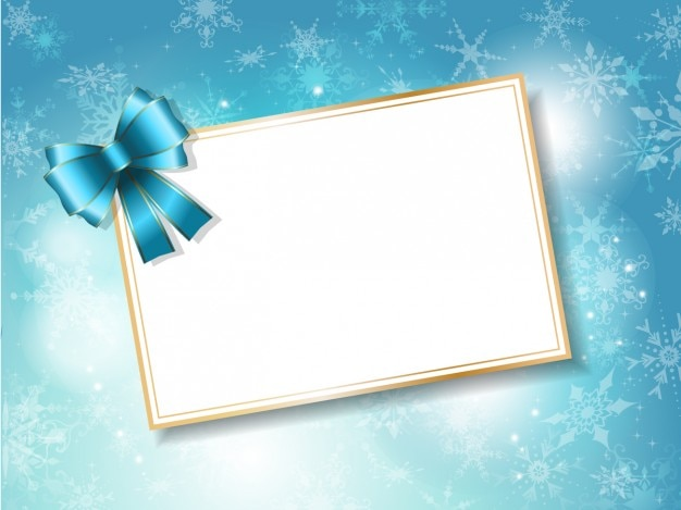 Blank Christmas Card On Bright Background Vector Free Download