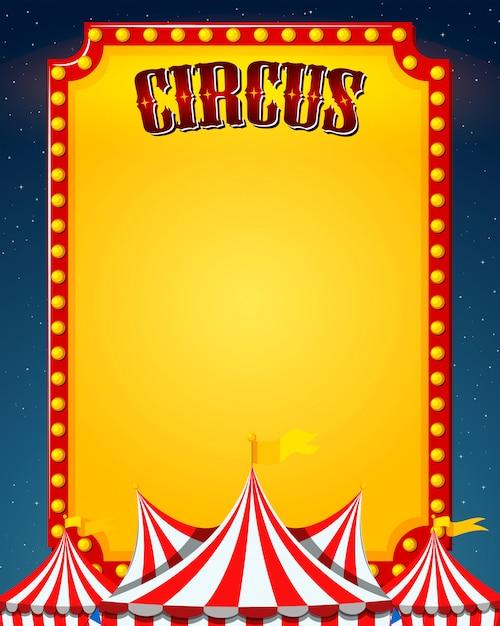 A blank circus border Free Vector