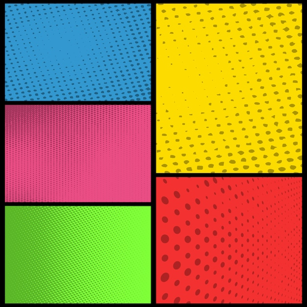 Premium Vector Blank Comic Book Page Background With Halftone Color
