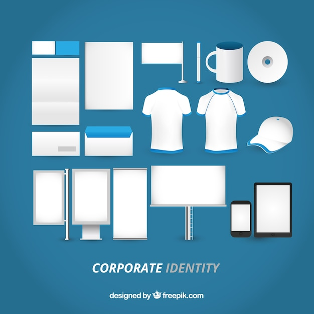 Blank corporate identity Vector | Free Download