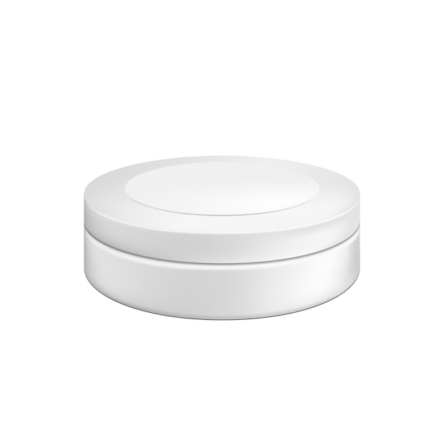 Blank cosmetic package container for cream. illustration isolated Premium Vector