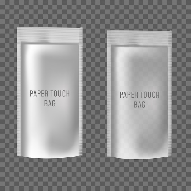 Blank of doy pack for food or drink Premium Vector