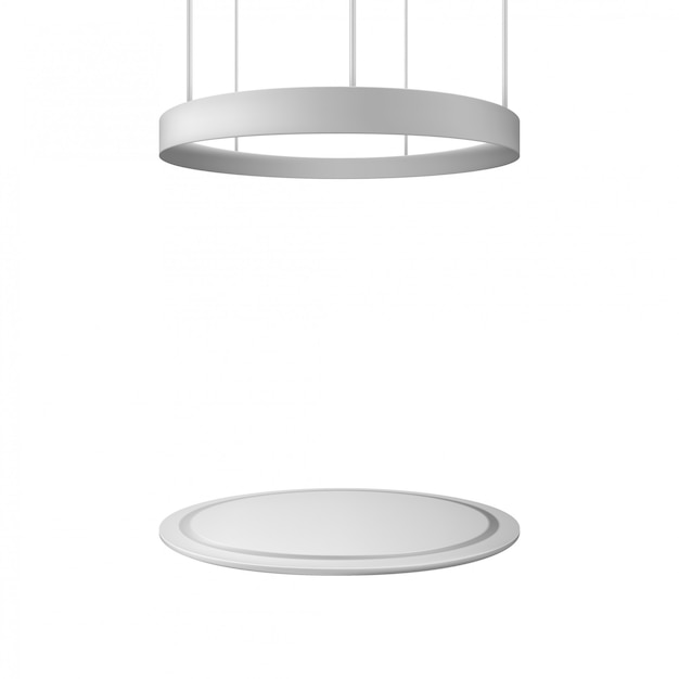 Blank exhibition stand. illustration isolated. graphic concept for your design Premium Vector