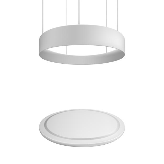 Пустой выставочный стенд. иллюстрация изолирована на белом фоне. Premium векторы