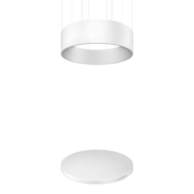 Blank exhibition stand. illustration isolated Premium Vector