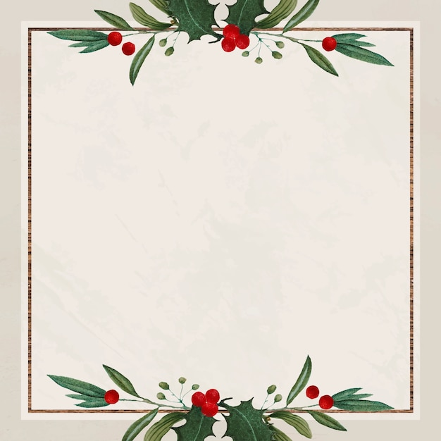Blank festive square christmas background Free Vector