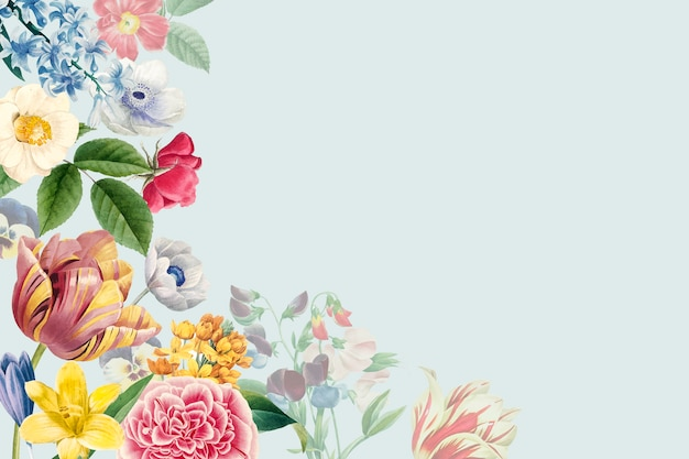 Blank floral copy space Free Vector