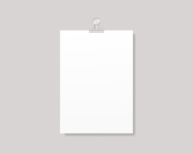 Blank flyer poster. empty a4 or a3 sized paper frame mockup. template design. realistic illustration. Premium Vector