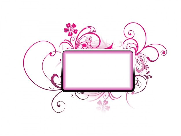 Blank frame with ornamental floral decoration Free Vector