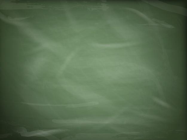 空白の緑の黒板、コピースペースを持つ黒板のテクスチャー。 Premiumベクター