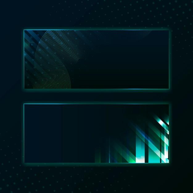 Blank green rectangle banner signboard vector Free Vector
