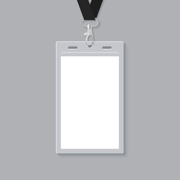 blank id card template vector premium download