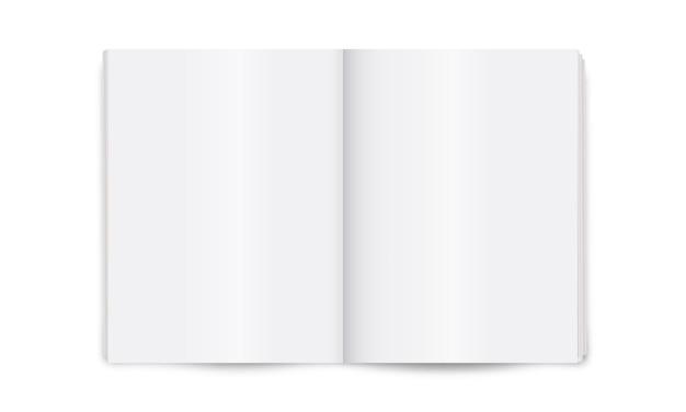 Blank layout of open newspaper Premium Vector