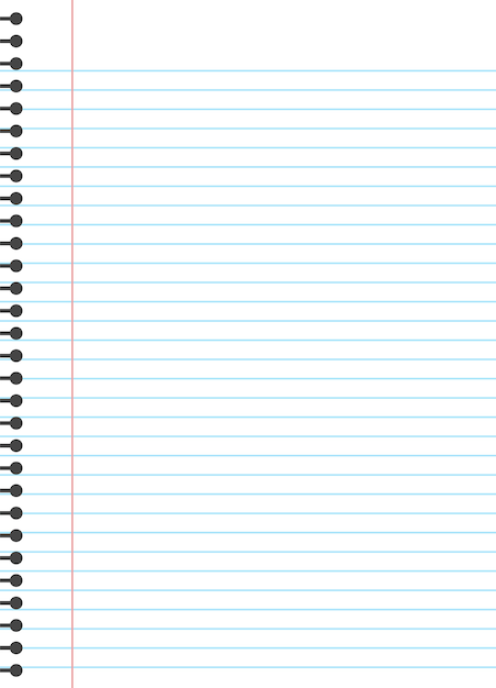 Blank lined paper template. Premium Vector