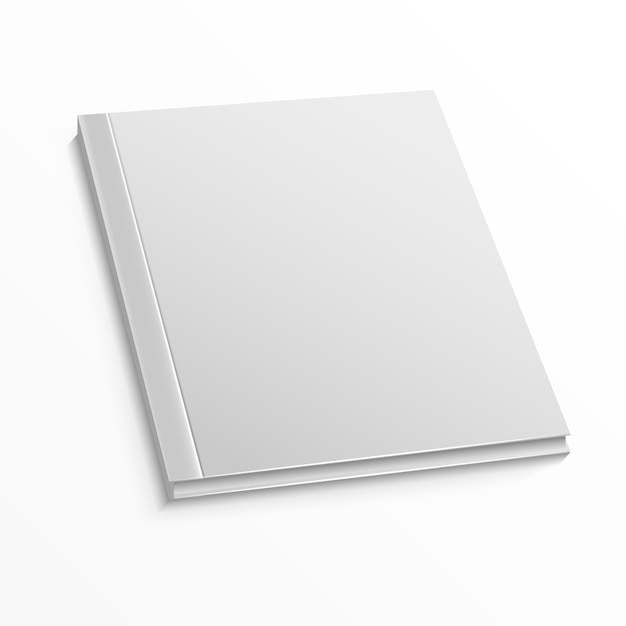 Blank magazine cover template on white Premium Vector