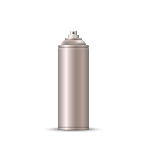 Blank metal bottle spray aerosol Premium Vector